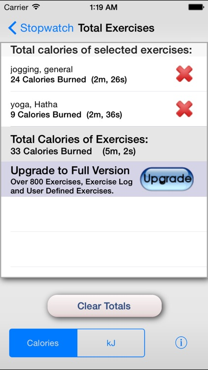 Exercise Calorie Stopwatch - Calculator/Timer for the Calories Burned With Exercise screenshot-4