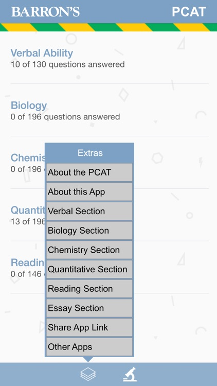 Barron's PCAT Exam Review Practice Questions