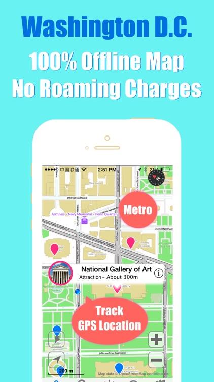 Washington D.C. travel guide and offline city map, BeetleTrip DC metro subway trip route planner advisor