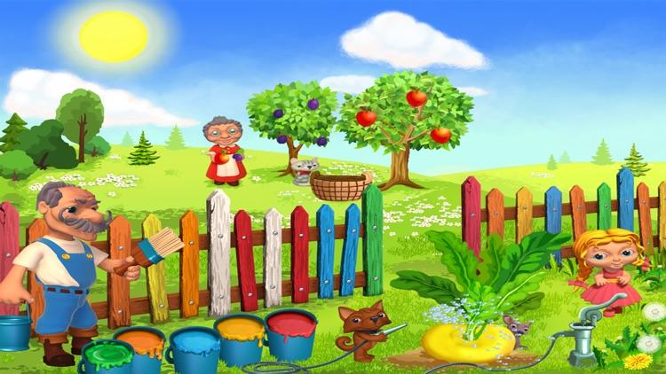 Репка - живая и добрая интерактивная развивающая сказка для детей. screenshot-3