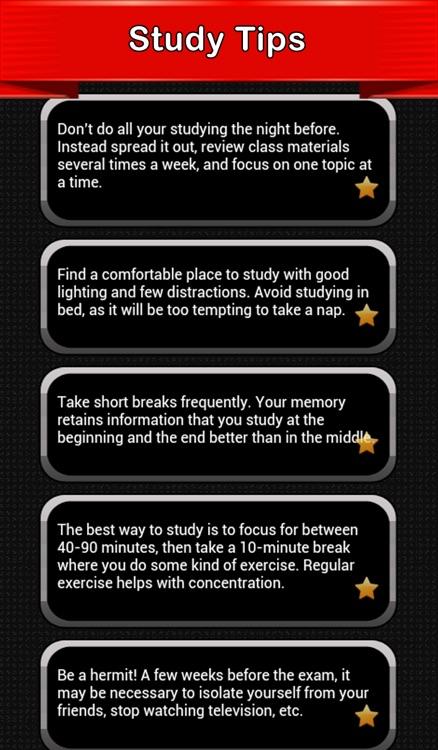 Good Study Tips