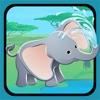 アクティブ! 子どもたちが学び、ジャングルの動物と遊ぶためのゲームのサイジング