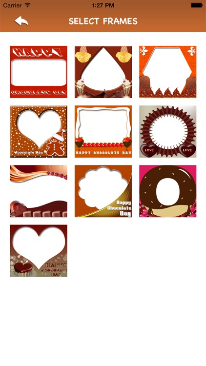 Chocolate Day Frames