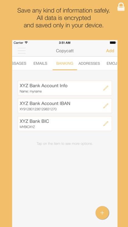 Copycatt - Secure Copy Paste Keyboard screenshot-3