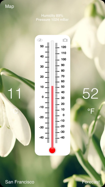 Thermometer Deluxe - Weather on The Map With Charts and Forecast screenshot-0