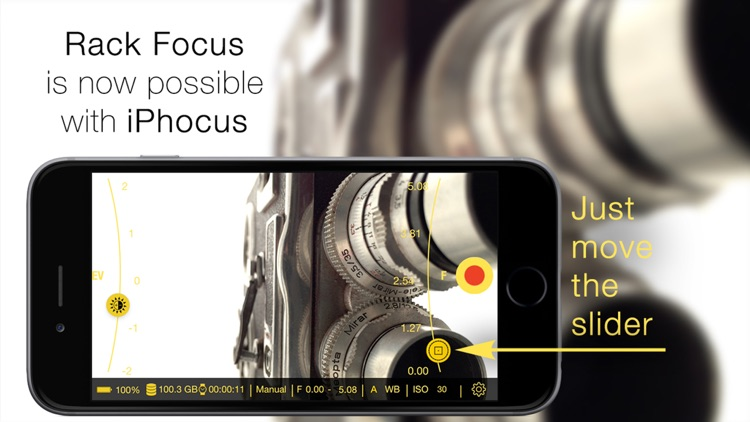 iPhocus - Manual camcorder - Focus, Exposure, ISO and White Balance controls for your videos like in a DSLR