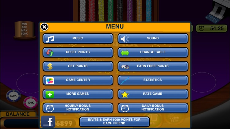 Blackjack 21 + Free Casino-style Blackjack game screenshot-3