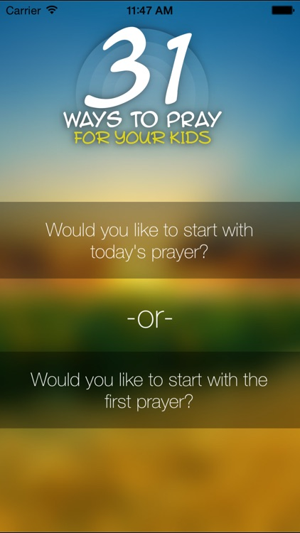 31 Ways To Pray For Your Kids