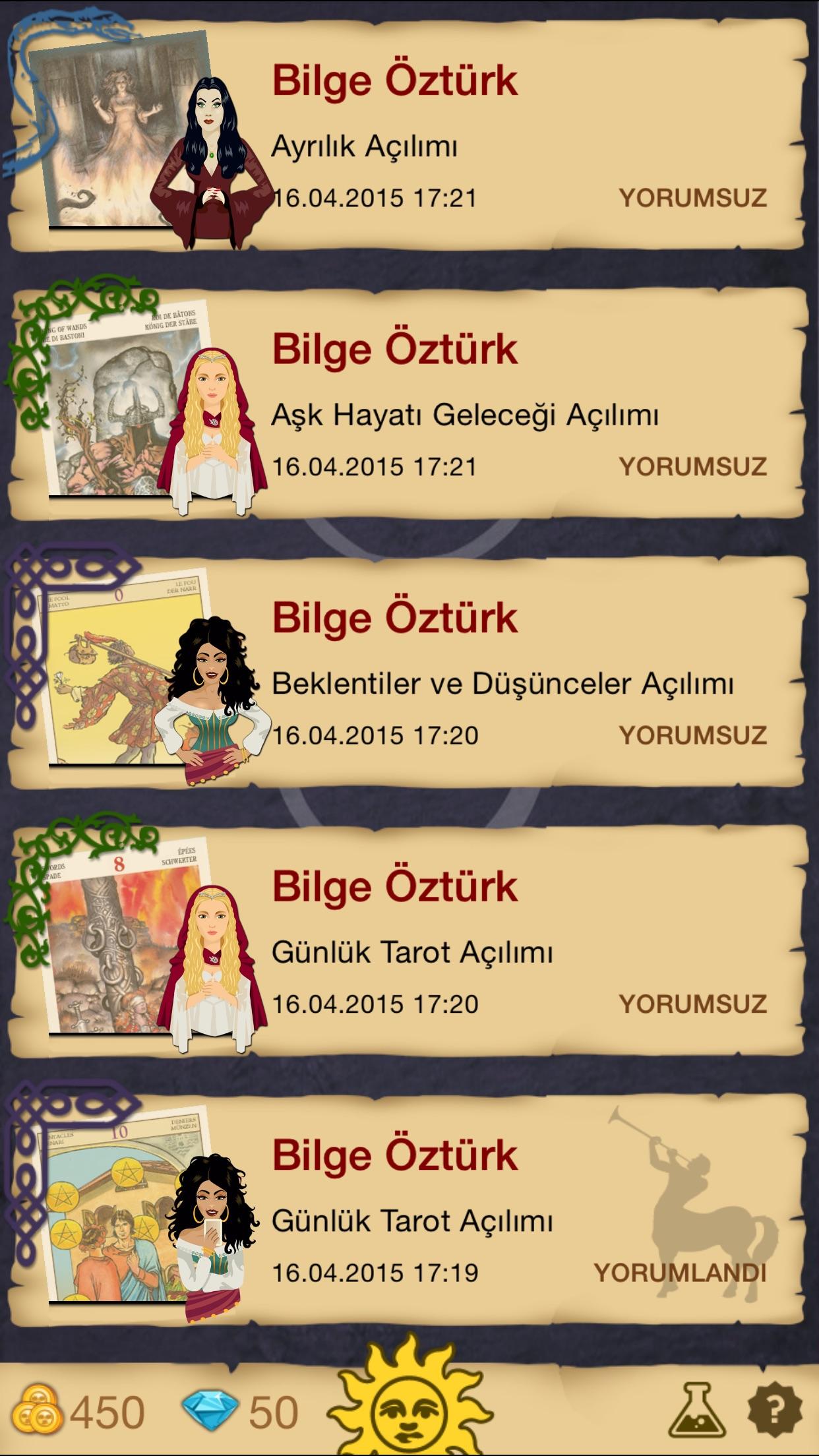 Mistik Tarot Screenshot