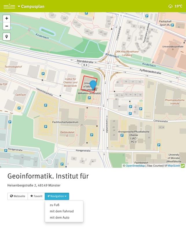 Campusplan im App Store