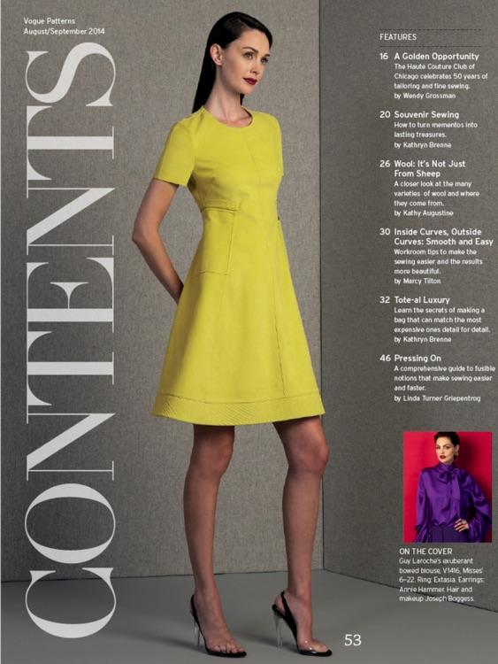 The Vogue Patterns Magazine