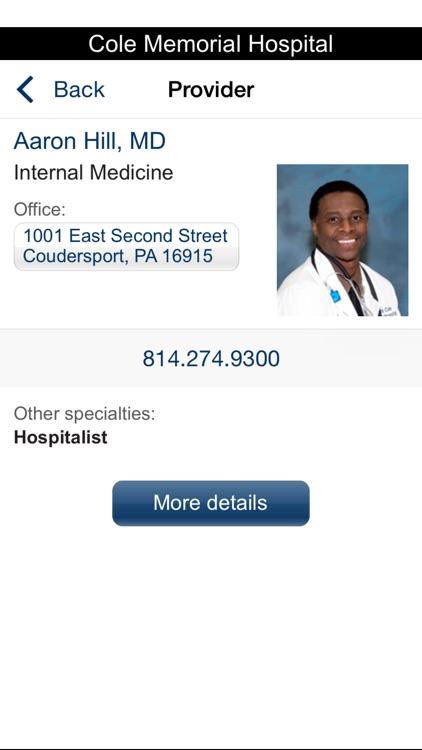 Cole Memorial Health Network screenshot-4