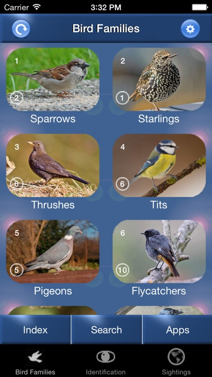 Bird Id - British Isles Identification Guide including all RSPB BGB bird watching survey birds