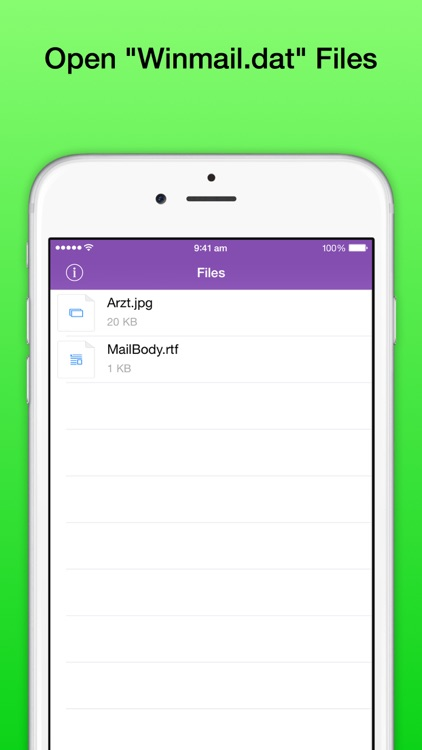Winmail DAT File Viewer Pro - Open winmail.dat TNEF-encoded Outlook files on iPhone and iPad