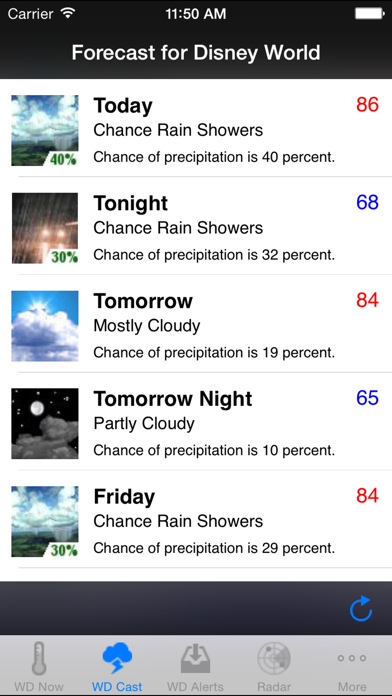 Weather Plus For Disney Parks review screenshots