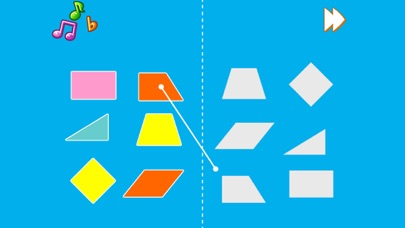 Kids Shapes - Kids worksheet matching shapes and shadows screenshot two