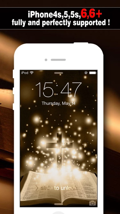 Bible Wallpapers Pro - Backgrounds & Lock Screen Maker with Holy Retina Themes for iOS 8 & iPhone 6 screenshot-0