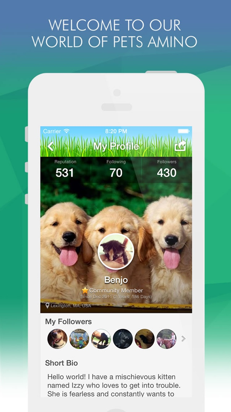 Pets Amino for Dog, Cat & Fish Pet Owners