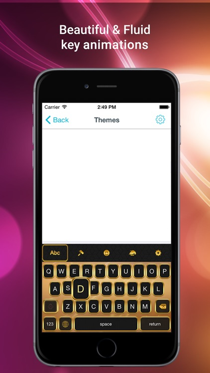 Color Vibes Keyboard - experience typing with the best custom themes extension, top stickers and emoji screenshot-3