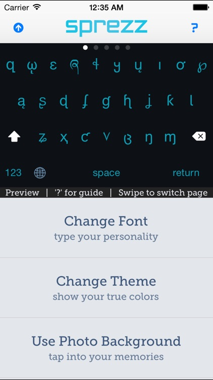 Sprezz - Custom Keyboard Themes and Fonts
