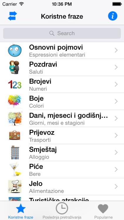 PortosDicty frasi utili italiano-croato con audio madrelingua / Koristne italijansko hrvatske fraze