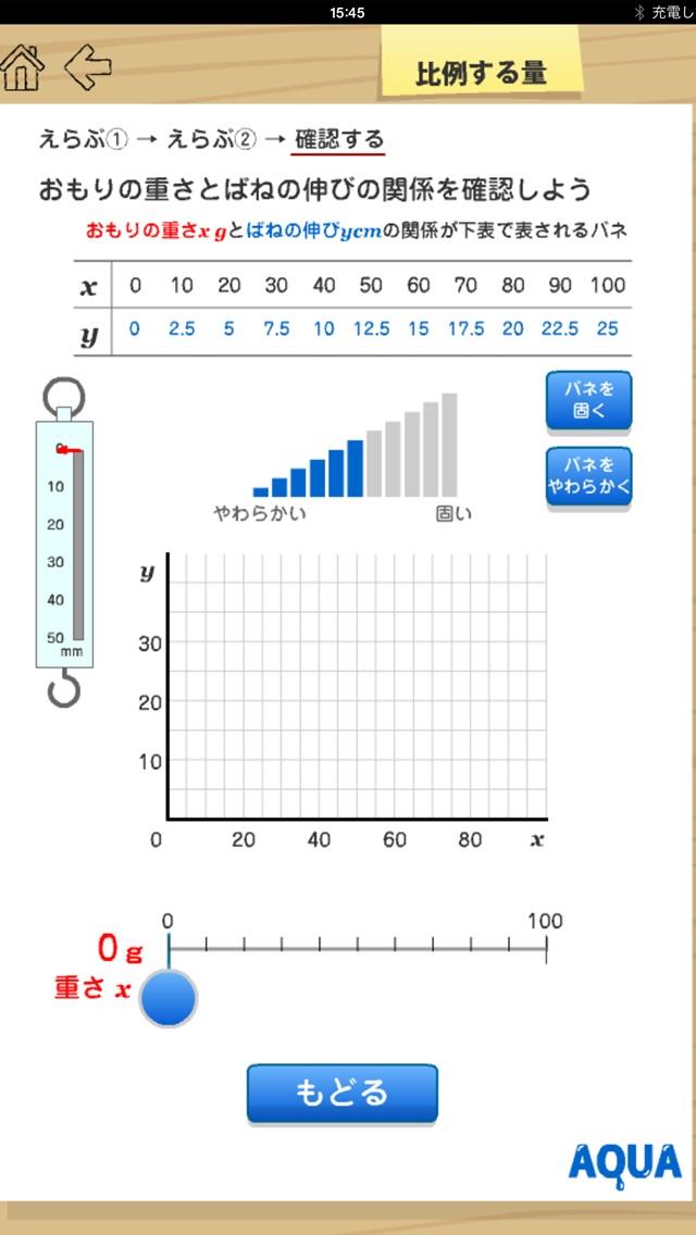 比例する量 さわってうごく数学「AQUAアクア」のおすすめ画像4