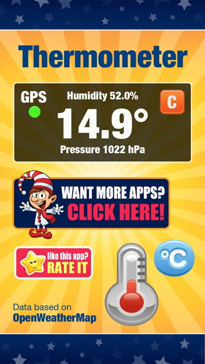 Thermometer - Temperature, humidity and atmospheric pressure measure.