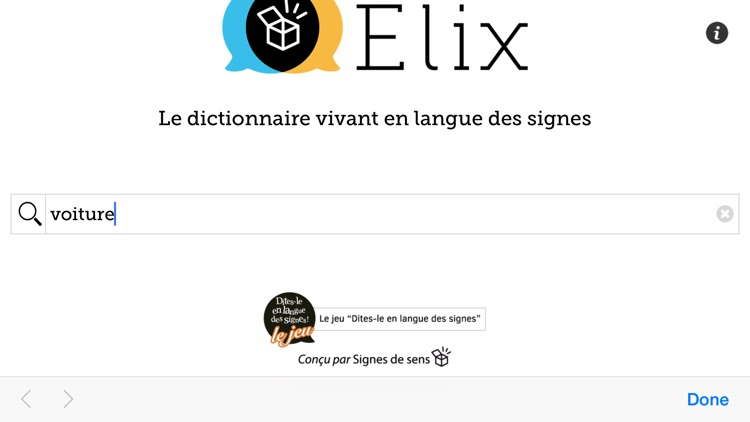 Elix - Dictionnaire vivant en langue des signes