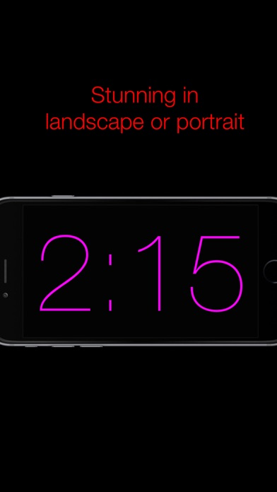 Nite Time - a simple night clock for your nightstand with flashlight screenshot two