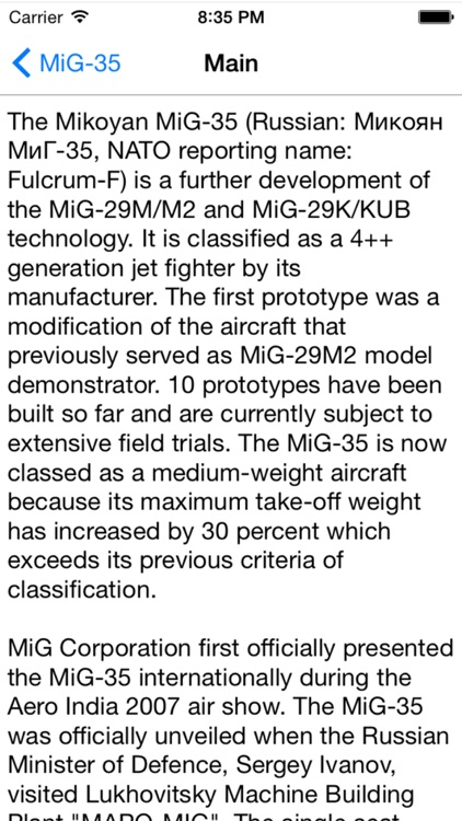 Russian Military Aircraft Appreciate Guide -iPhone screenshot-3