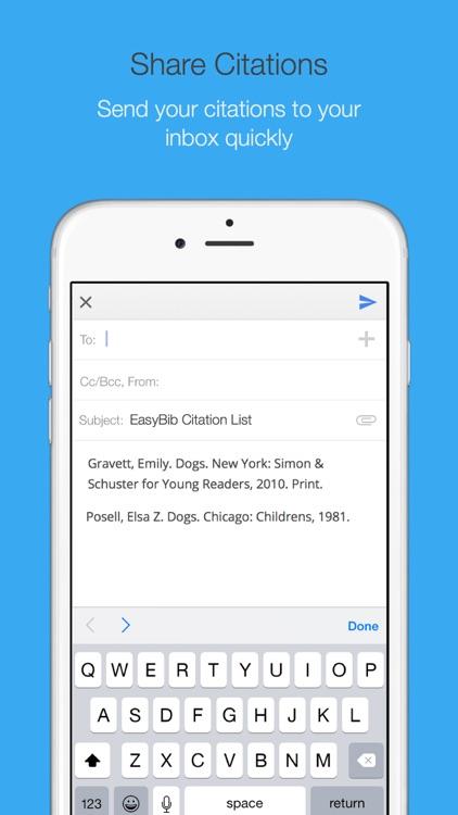 EasyBib: Automatic Bibliography Generator and Citation Machine screenshot-3
