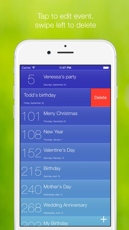 Love Time - countdown to important dates and holidays screenshot-3