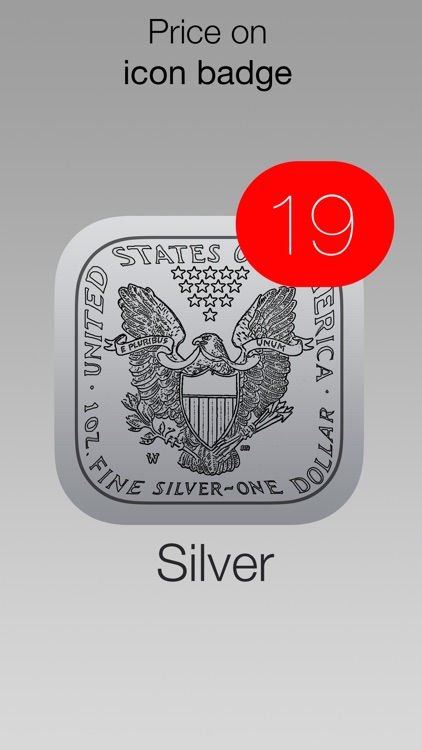 Silver Price Watch - live spot price on a troy ounce bullion coin icon /w widget, charts, push notifications, custom alerts and more! screenshot-3
