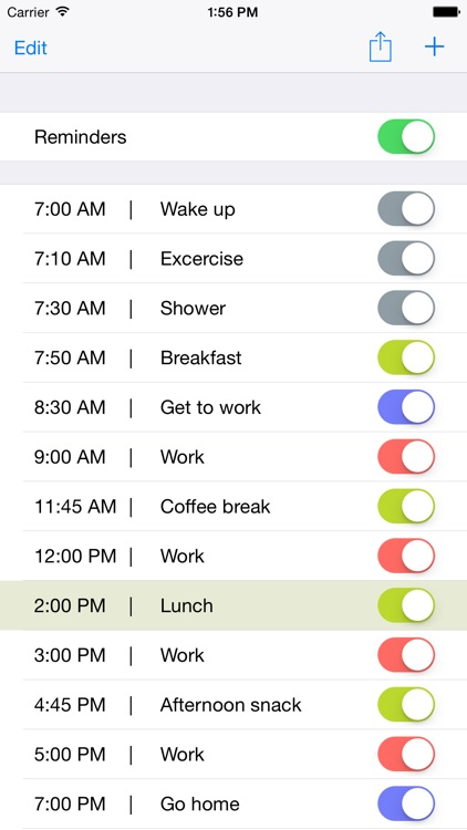 iDay - routine to do management app