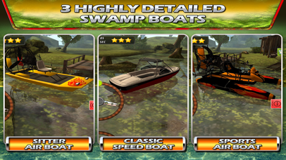 Swamp Boat 3D River Sports Fast Parking Race Game screenshot three
