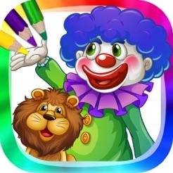 Circus En Clowns Kleurboek Met Tekeningen Om Te Schilderen In De