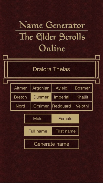 Name Generator for The Elder Scrolls Online screenshot-3
