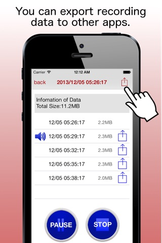 Screenshot of RecNow -record your conversations in mp3 format-