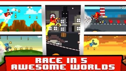 Blocky Bike Race 3D - A Pixl Roads Block Run screenshot two