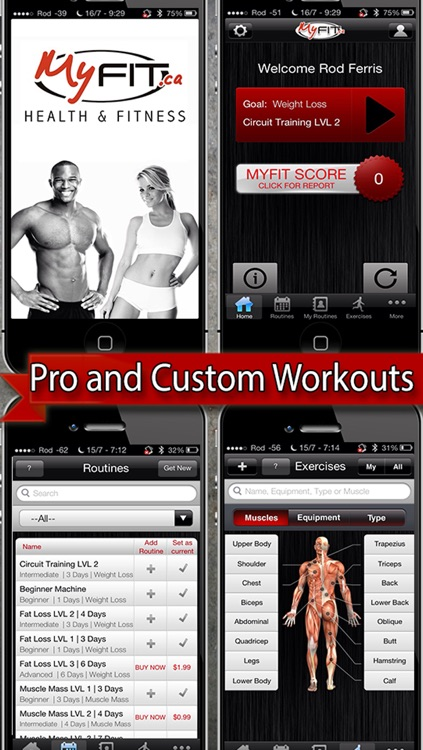 MyFit Fitness - Workout Logger and Weight Loss Exercise Tracker Free