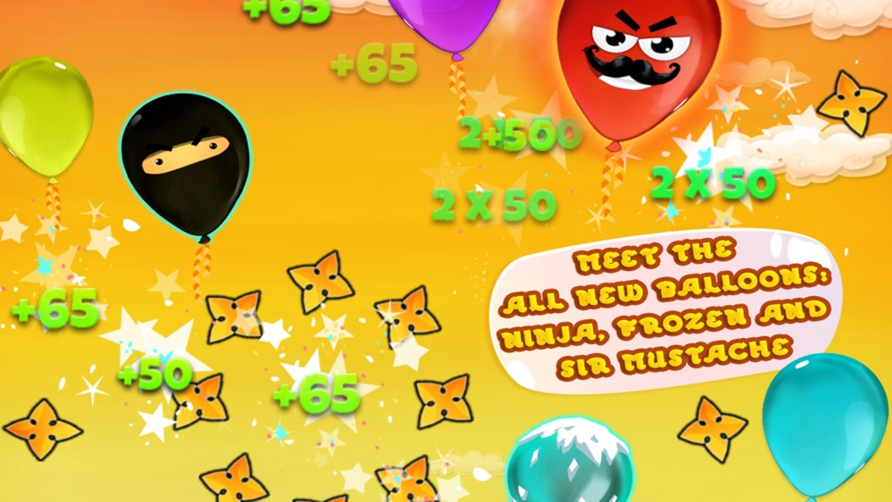 Sneaky Balloons : The big pop confetti party - Tap balloon free game for kids, boys and girls - Unexpected ninja adventure in Sky Tower - Cool winter edition for toddlers hack tool