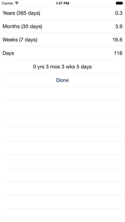 Date Difference Calculator screenshot-4