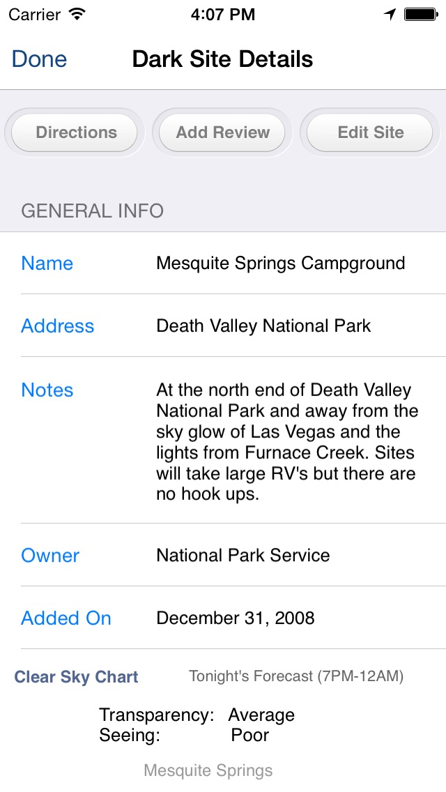 Screenshot for Dark Sky Finder in United States App Store