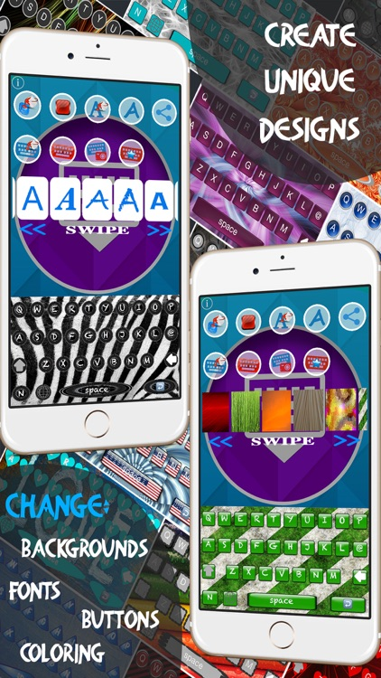 Keyboard Maker - Custom Keyboards Creator allows custom keys, font, backgrounds & photo backgrounds