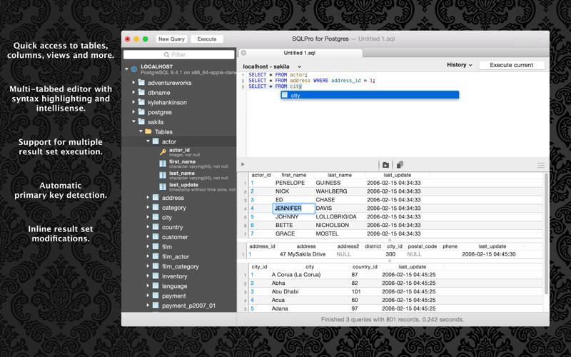 SQLPro for Postgres Screenshots