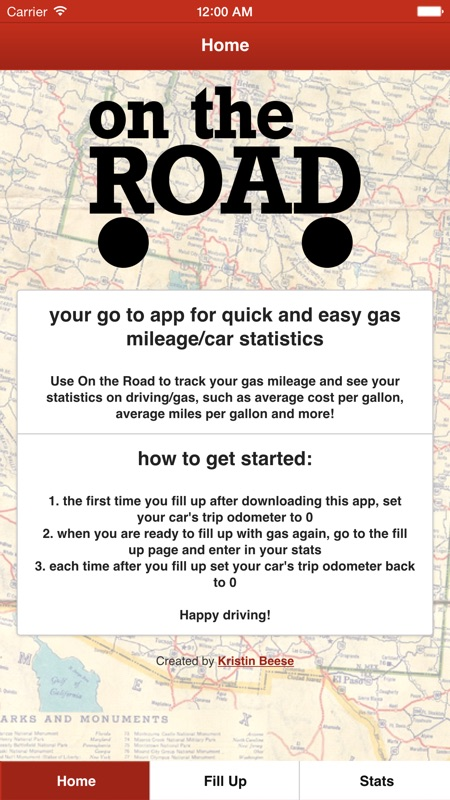 On the Road - Your go to app for quick and easy mpg