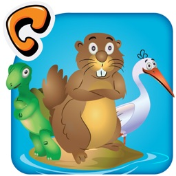 Animal Pond - Kids Draw Color Paint & Story Book