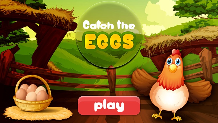 Catch the Eggs-simple and fun chicken bird dropping eggs and catching arcade game. screenshot-0