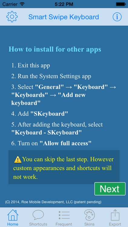 Smart Swipe Keyboard Pro for iOS8 screenshot-3