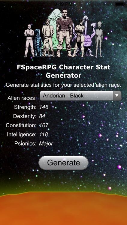FSpace Alien Statistic Generator by FSpace Publications